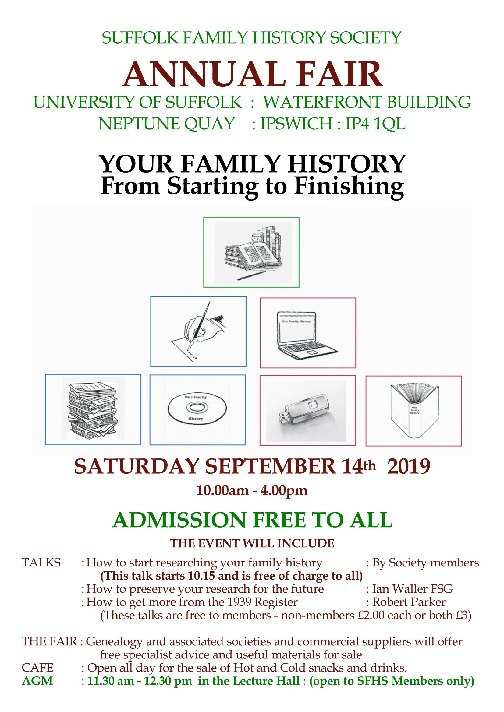 Welcome - SFHS - Suffolk Family History Society